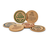 Beer coaster cork 6 pcs assorted english