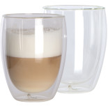 Set of 2 double-walled capuccino cups