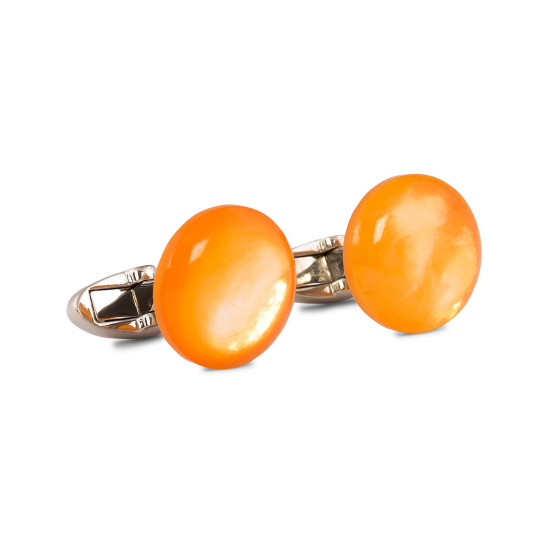 Mother of Pearl Cufflinks Orange