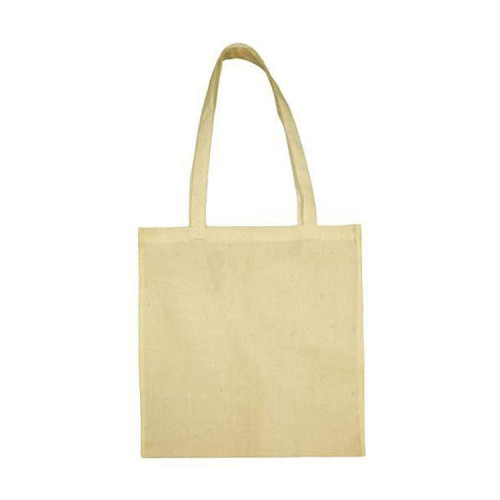 Organic cotton shopper, långa handtag