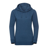 Ladies Authentic Melange Hooded Sweat