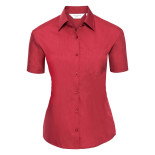 Ladies´ Short Sleeve Polycotton Easy Care Poplin S