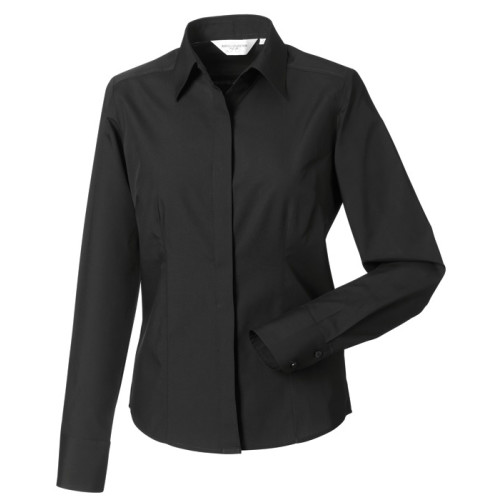 Ladies LS Easy Care Fitted Poplin Shirt