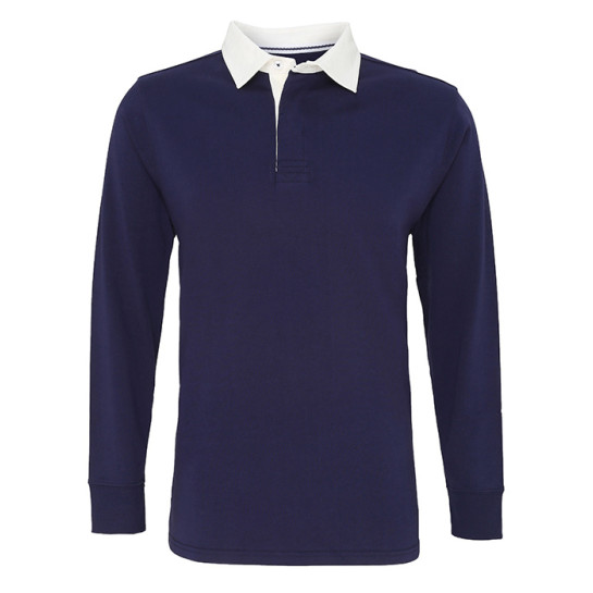 Mens Classic Fit Long Sleeve Vintage Rugby