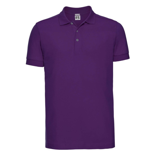 Mens Fitted Stretch Polo