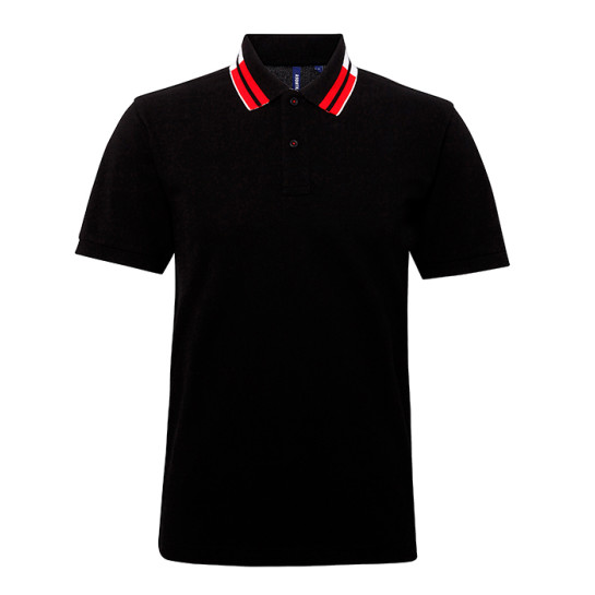 Two collar tipped polo