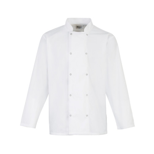 Long Sleeve Studded Chefs Jacket