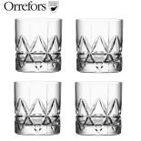 Whiskyglas Orrefors Peak Double Old Fashion, 4-pack