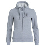 Skoltröja Basic Hoody Full zip ladies