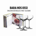 Orrefors Cocktail avantgarde 4-pack + Glassbok