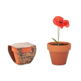 Red Poppy - Terracotta skål \