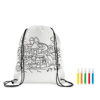 Carrydraw - Non woven kids bag with pens