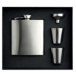 Slimmy Flask Set - Slim hip flaska med 2 st koppar
