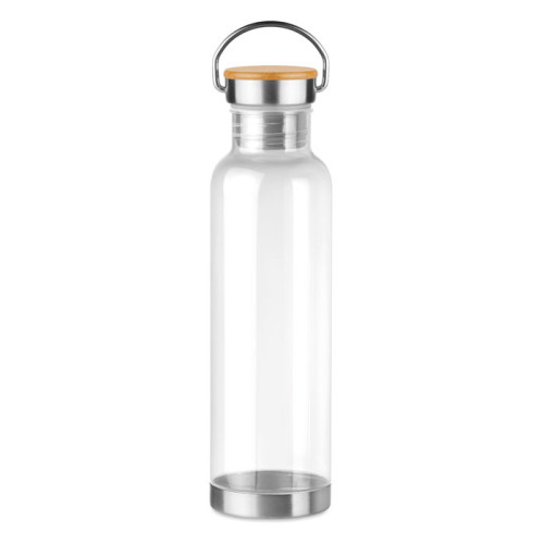Helsinki Basic - Tritan 800ml bottle bamboo top