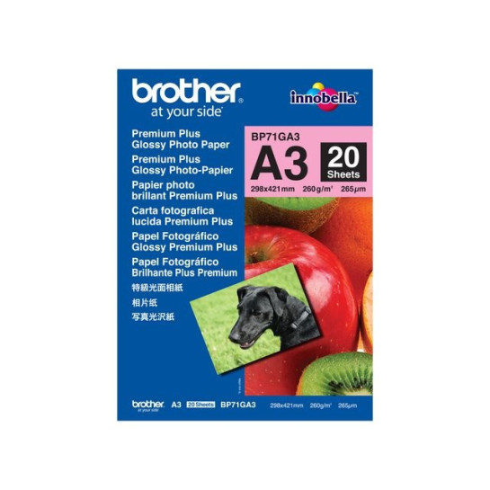 Fotopapper BROTHER BP71 A3 260g 20/FP