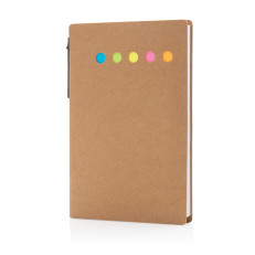 Kraftpapper sticky notes A6 med penna