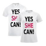 T-shirt Yes She Can - Herr