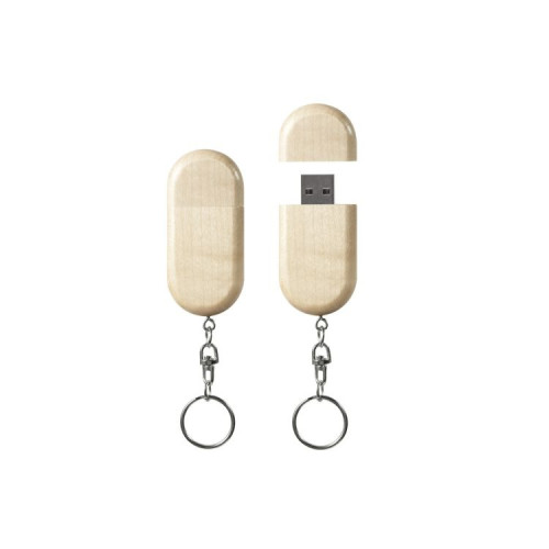 Oval wood USB