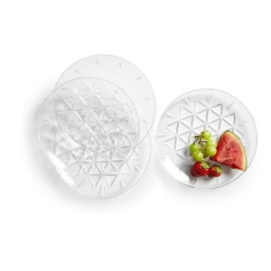 Picnic tallrik 4-pack , transparent