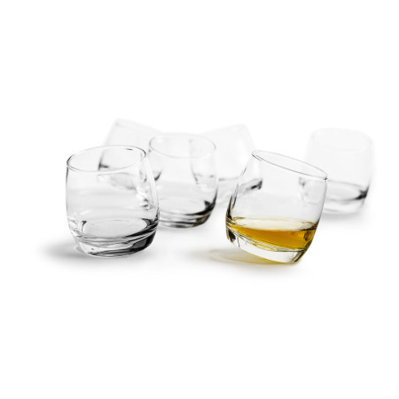 Club whiskeyglas rundad botten, 6-pack