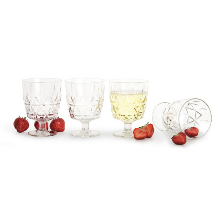 Picnic altanglas 4-pack, transparent