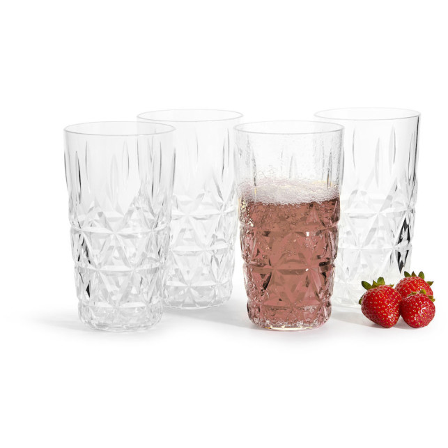 Picnic stort glas 4-pack, transparant