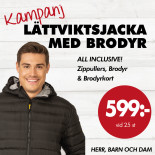 Light jacket med brodyr