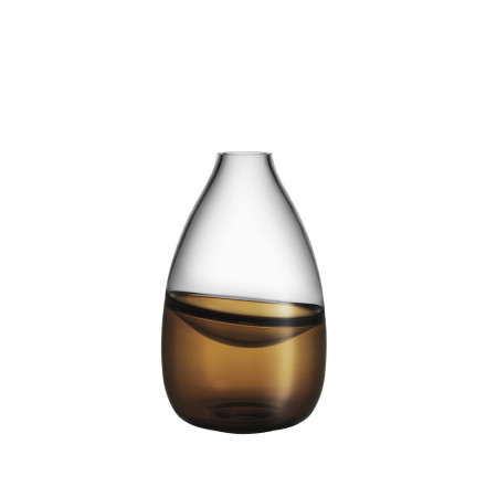 Kosta boda Septum golden brown vase ltd 300 ex