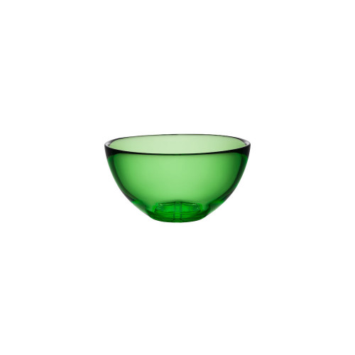Kosta boda Bruk apple green serving bowl small
