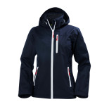 Dam marinblå Crew Hooded Jacket