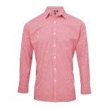 Men´s Microcheck Gingham LS Cotton Shirt