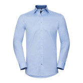 Men´s LS Tailored Contrast Herringbone Shirt