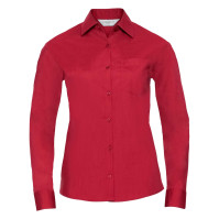 Ladies´ Long Sleeve Polycotton Easy Care Poplin Shirt