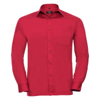 Men´s Long Sleeve Polycotton Easy Care Poplin Shirt