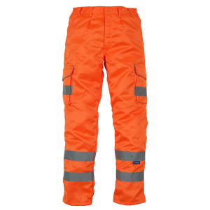 Hi vis Polycotton Cargo Trousers