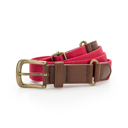 Faux Leather & Braid Belt