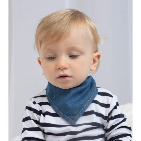 Baby Rocks Denim Bandana Bib