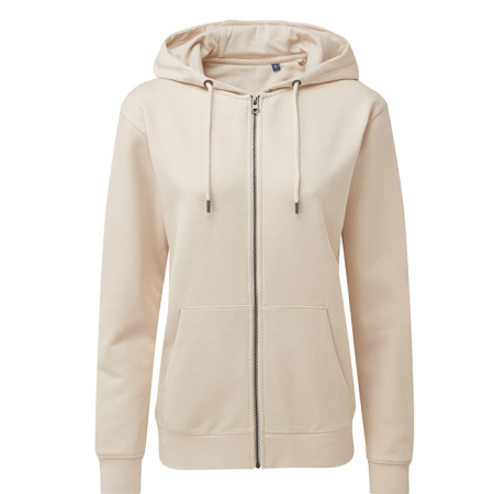 Womens Zip Through Organic Hoodie