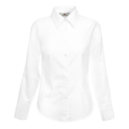 Ladies Long Sleeve Oxford Shirt