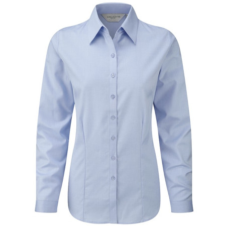 Ladies´ Long Sleeve Herringbone Shirt