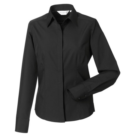 Ladies´ LS Polycotton Easy Care Fitted Poplin Shir