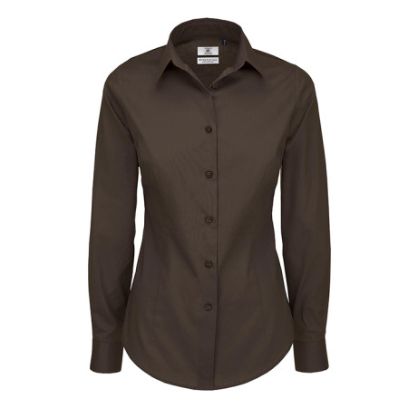 Black Tie Ladies Long Sleeve Shirt