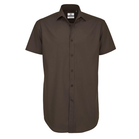 Black Tie Short Sleeve Shirt