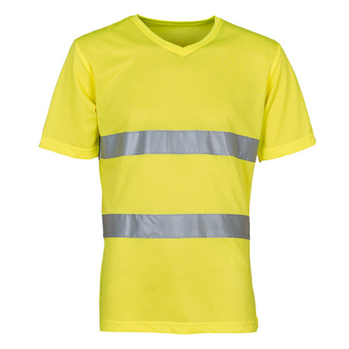 Hi Vis Top Cool V-Neck Mesh T-Shirt