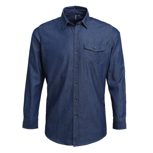 Jeans stitch denim shirt