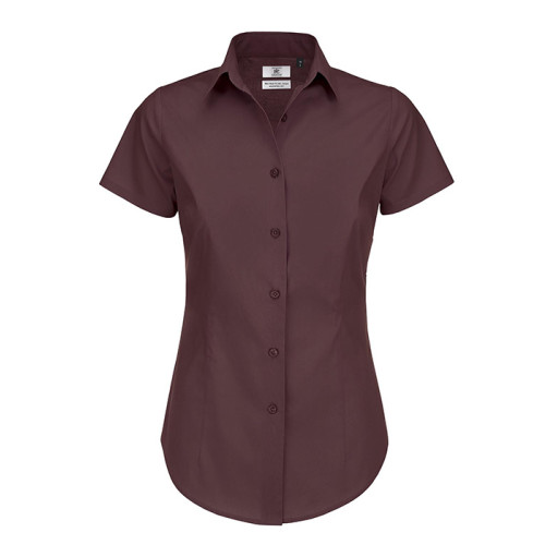 Black Tie Ladies Short Sleeve Shirt