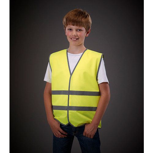 Hi Vis Reflective Border Children 2 Bands Waistcoat