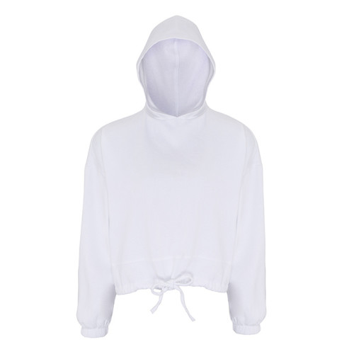 Womens Cropped Oversize Hoodie