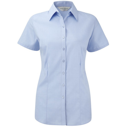 Ladies´ Short Sleeve Herringbone Shirt