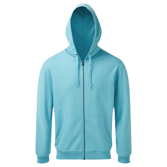 Mens Coastal Vint. Wash Loop Back Zip Through Hood